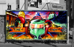 BREAKONE X URBAN TACTICS (video) (BREakONE) Tags: urban streetart painting effects graffiti video promo break budapest exhibition billboard colored tactics breakone gsby