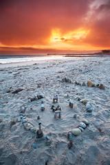 Sandy Stonehenge (Extra Medium) Tags: sunset orange beach pier sand stonehenge ventura singhrayrgnd mysteriousrocks