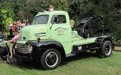 Antique Ford Tow Truck (blazer8696) Tags: fall ford 1948 festival truck canon vintage is kent antique connecticut ct sharon powershot machinery lane memory furnace cama popular esso f5 tow coe association 2011 img4588 rte7 kentfurnace sx120 t2011