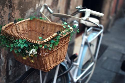 Decorated Bike Basket : 自転車 素材 イラスト フリー : 自転車の
