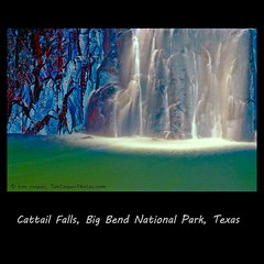 Cattail Falls (tim, TimCooperPhotos.com) Tags: blue southwest green landscape us waterfall nationalpark flickr texas rivers northamerica 20 westtexas bigbend timcooper bestoftexas dblringexcellence