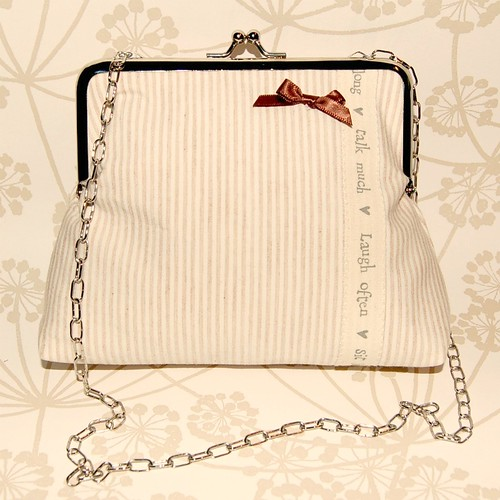 Laugh Often Silver Frame Bag by gracefaceboutique