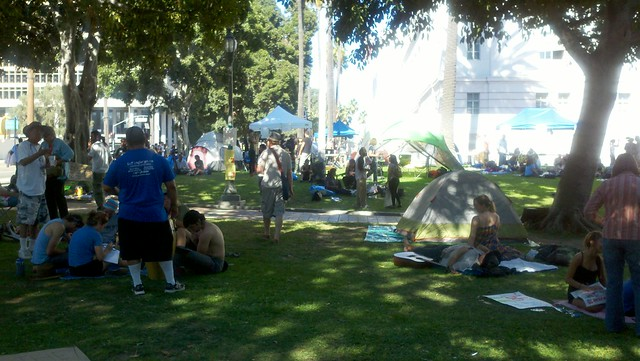Morning, day two, Occupy Los Angeles