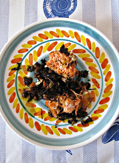 Rollé di Salmone con Gelatina di Insolia al Miele e Vaniglia, Nocciole e Albicocche su Letto di Finocchietto e Mandarino (3)