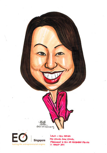 Caricature for EO Singapore - Ms Chong Siok Ching