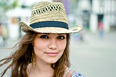 Phoebe (79/100) (drmaccon) Tags: portrait woman beautiful hat photography 50mm prime eyes nikon mark strangers streetphotography streetportrait stranger phoebe portraiture beautifulwoman streetphoto 100 loughborough brownhair strangerportrait streetportraiture nikon50mm nikon50mmprime portraitstreet 100strangers mcconnochie d5100 nikond5100 drmaccon