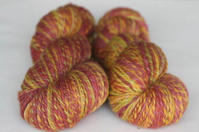 **PLAY**  WSK 'Autumn Tundra' on Polwarth Handspun