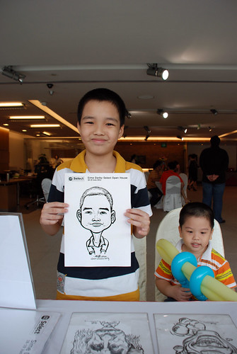 Caricature live sketching for Sime Darby Select Open House Day 1 - 14