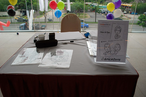 Caricature live sketching for Sime Darby Select Open House Day 1 - f