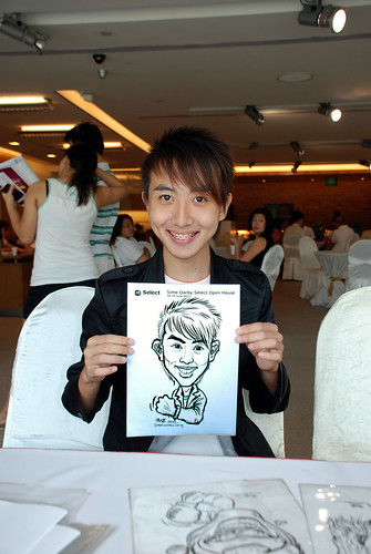 Caricature live sketching for Sime Darby Select Open House Day 2 - 14