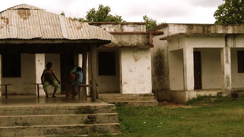 Rescued ex-kamalari girls relax at their hostel in Magragadhi, Nepal