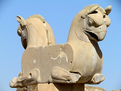 Double-headed Griffin Statue, Persepolis (twiga_swala) Tags: world heritage archaeology statue persian site ancient ruins iran eagle head capital culture persia double unesco civilization column iranian archaeological ایران griffin minar تخت جمشید persepolis headed takhte jamshid فارس fars parsa استان emprie chehel πόλισ πέρσησ
