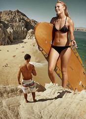 195 - Baywatch: The Next Generation (jacens0l0) Tags: bikini handheld goliath mega giantess annasophiarobb
