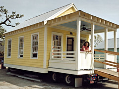 Katrina Cottage on wheels (via Affordable Housing Institute)