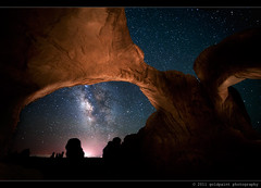 The Ninth Movement (Goldpaint Photography) Tags: usa stars ut sandstone galaxy astrophotography moab astronomy nightsky archesnationalpark celestial starrynight milkyway doublearch earthandspace goldpaintphotography competition:astrophoto=2011
