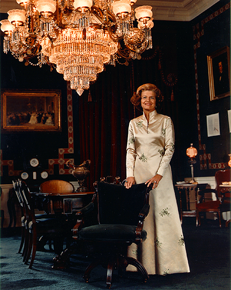 Betty Ford, White House Treaty Room, 1976 (Courtesy University of Texas)