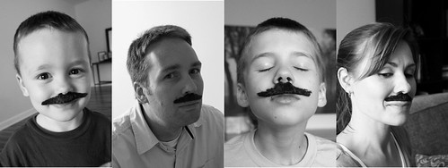 Creepy Moustache Family
