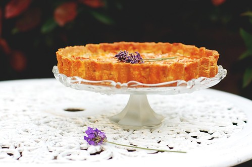 honeyed apricot & lavender tart