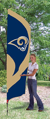 St Louis Rams Tall Feather Flag