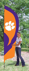 Clemson Tigers Tall Feather Flag