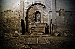 Immured for eternal penitence (Marco Arbani) Tags: urban abandoned church dark ruins decay religion wide wideangle chapel chiesa explore urbanexploration sacred 12mm exploration grandangolo abandonment decayed culto monastero ruined walled sacro urbex altare religione abbandono murato urbexing arbani d7000 marcoarbani