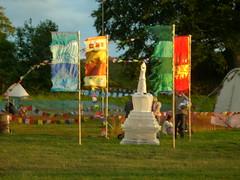 Stupa at sunset 2