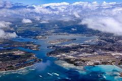 Pearl Harbor Aerial View (racketrx) Tags: hawaii oahu aerial explore pearlharbor honolulu alaskaairlines alaskaairlinesflight877