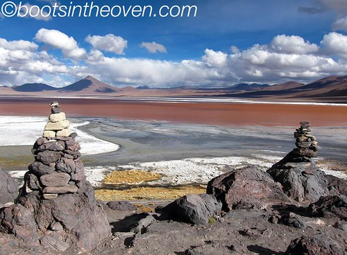 Aptly named laguna colorada