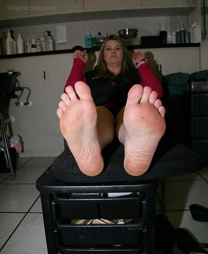 Thick sexy bbw wife soles