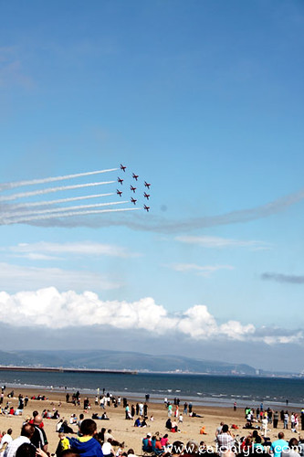 Red Arrows, Swansea Air Show 2011