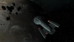 USS Voyager Prepare To Dock (LordDeimosIV) Tags: trek star space conflict starfleet voyager terran x3