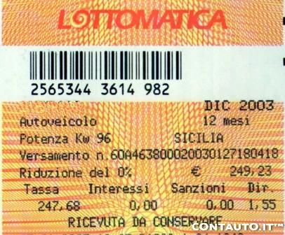 BOLLO AUTO lottomatica