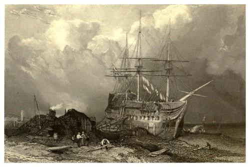 010-Antiguo puerto de Rye-Inglaterra-Stanfield's coast scenery…1836- Clarkson Stanfield