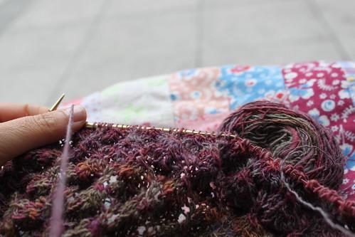 Eu a tricotar