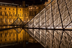 Louvre reflections (seryani) Tags: light sunset paris france art museum night canon atardecer noche twilight triangle europa europe pyramid dusk louvre palace bluehour soir nuit pyramide nocturne 2470l anochecer museedelouvre piramide nocturnes 2470 noctambule canoneos5dmarkii 5dmarkii