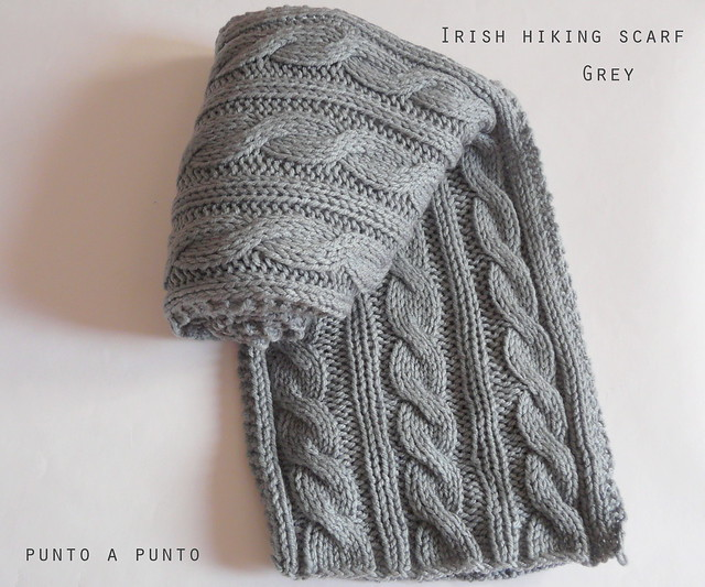 Irish hiking scarf grey