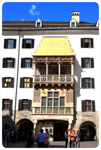 Innsbruck golden roof old town