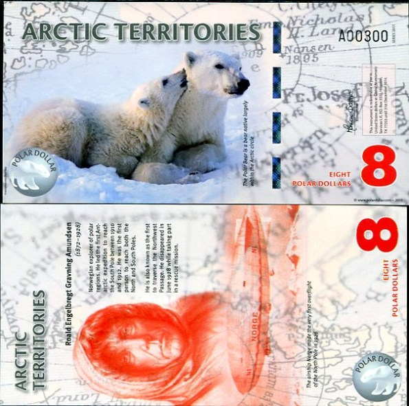 8 Polárnych dolárov Arktída 2011, polymer