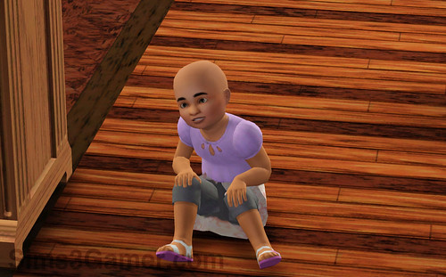 Cross-eyed Sims 3 toddler