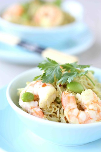 Curry-Rice-Vermicelli-with-Shrimp-&-Edamame-Recipe