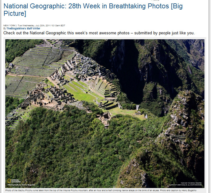 Machu Picchu em The blog is Mine