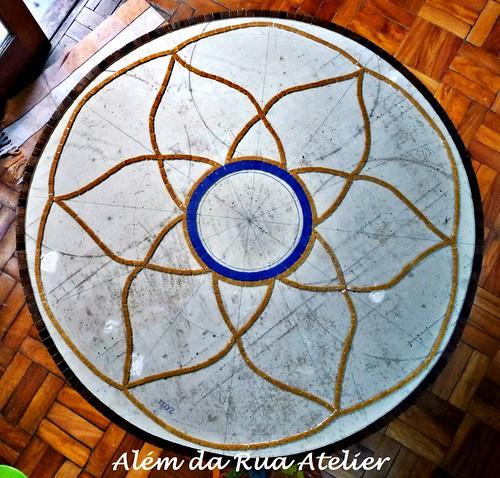 Mandala em Mosaico - Piso em Mosaico