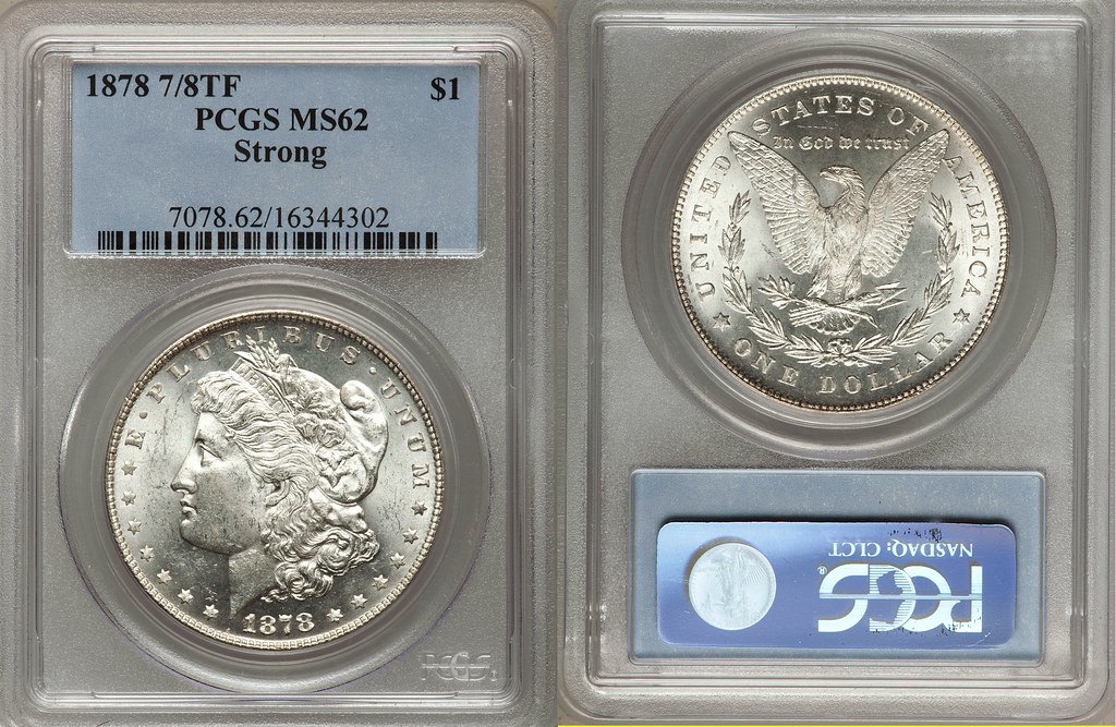 1878 VAM-38 PCGS MS-62 STRONG 7 over 8 TF