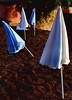 /I \ II (Jean-Marc Valladier) Tags: blue white beach corsica umbrellas gettyimagesfranceq1