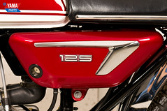 Yamaha AS3 Red 1971 55 (Yamaparts Photo) Tags: light red classic museum vintage japanese 1971 motorcycle yamaha restoration 125cc as3 yamahamotorcycle yas3 brilliantred yamaparts
