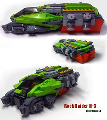 Rock Raider 3 (Hase0) Tags: power lego space miner spacecraft hase0