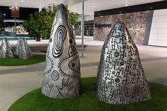 mysterious mountains (tanetahi) Tags: cairns cairnsairport sculpture metal tapichgloriafletcher indigenous artist sculptor ceramicist tanetahi