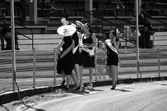 Show Lady Winners (Matthew Kenwrick) Tags: ladies girls people blackandwhite bw hot sexy fashion fun community women highheels dress young hats sunny australia event babes queensland chicks annual females cairns photographed 2011cairnsshow