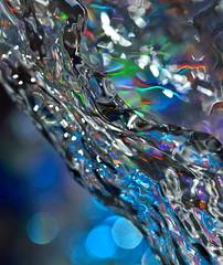 Deep blue water (Nataliya Corallium) Tags: abstract color macro reflection water reflections flow nikon surreal bubbles drop h2o drip bubble droplet swirl splash nikkor liquid highspeed liquidart