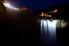 Snoqualmie Falls at Night